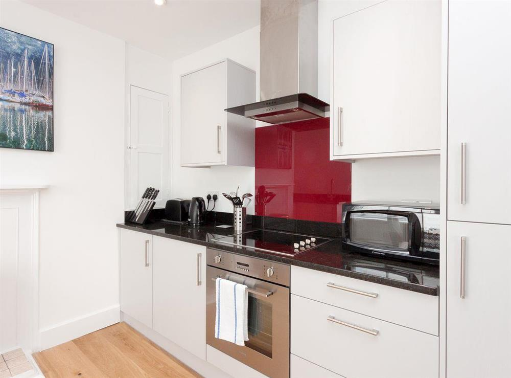 Well equipped kitchen area at Apartment 1 in Dartmouth, Devon