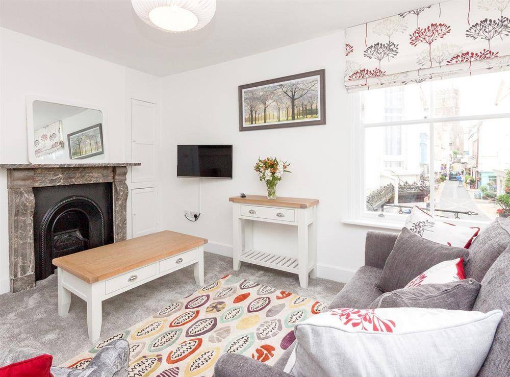 Well presented living area at Apartment 1 in Dartmouth, Devon