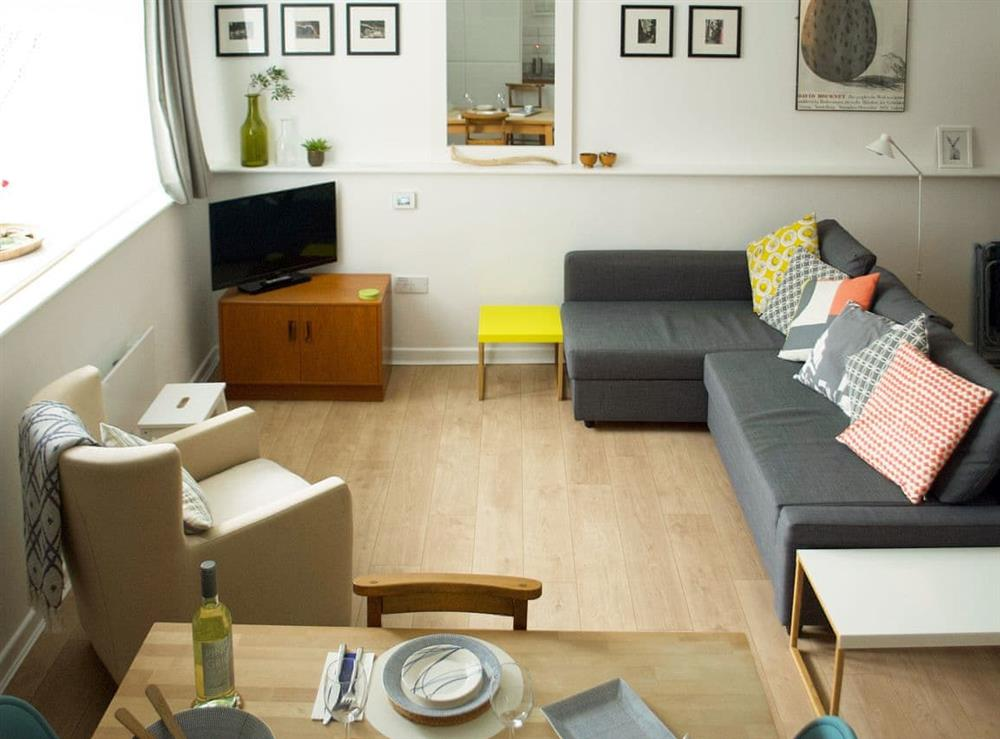 Stylish living area at Apartment 6 (Harlech) in Criccieth, Gwynedd