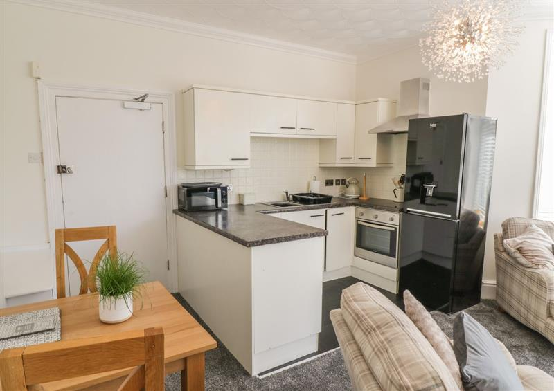 The kitchen at Apartment No6, Rhos-On-Sea