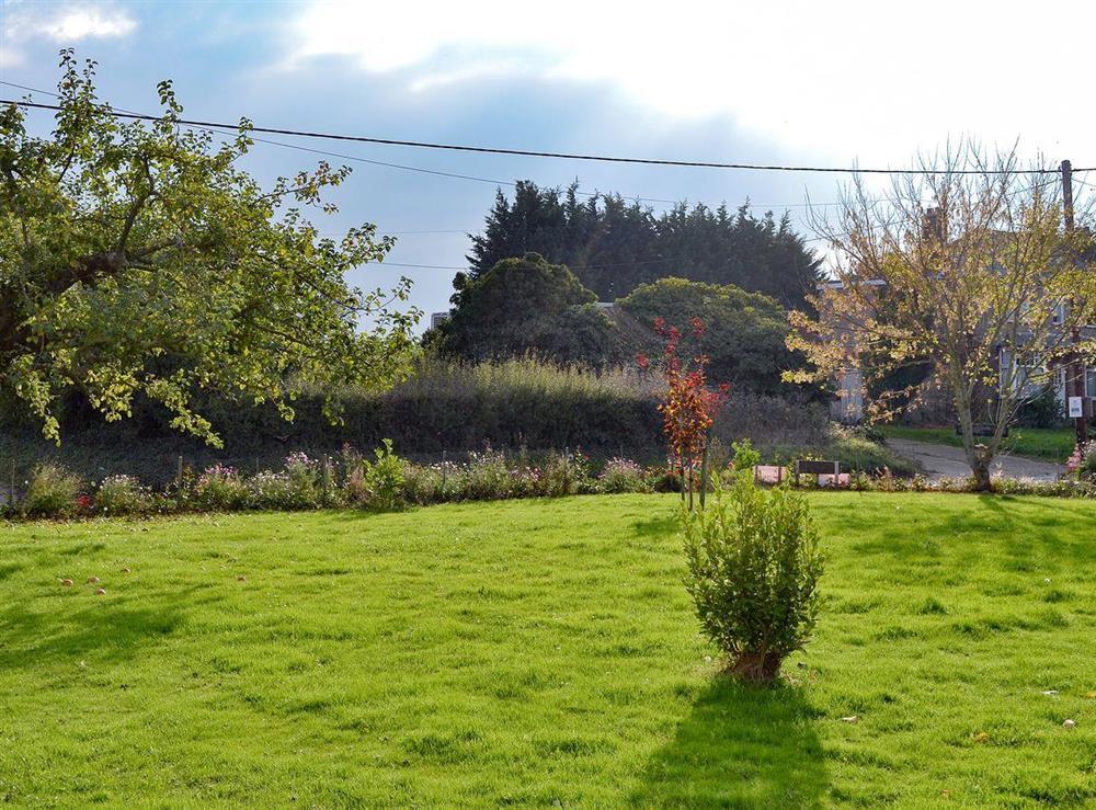 Attractive garden at Appletree Barn in Preston, near Canterbury, Kent