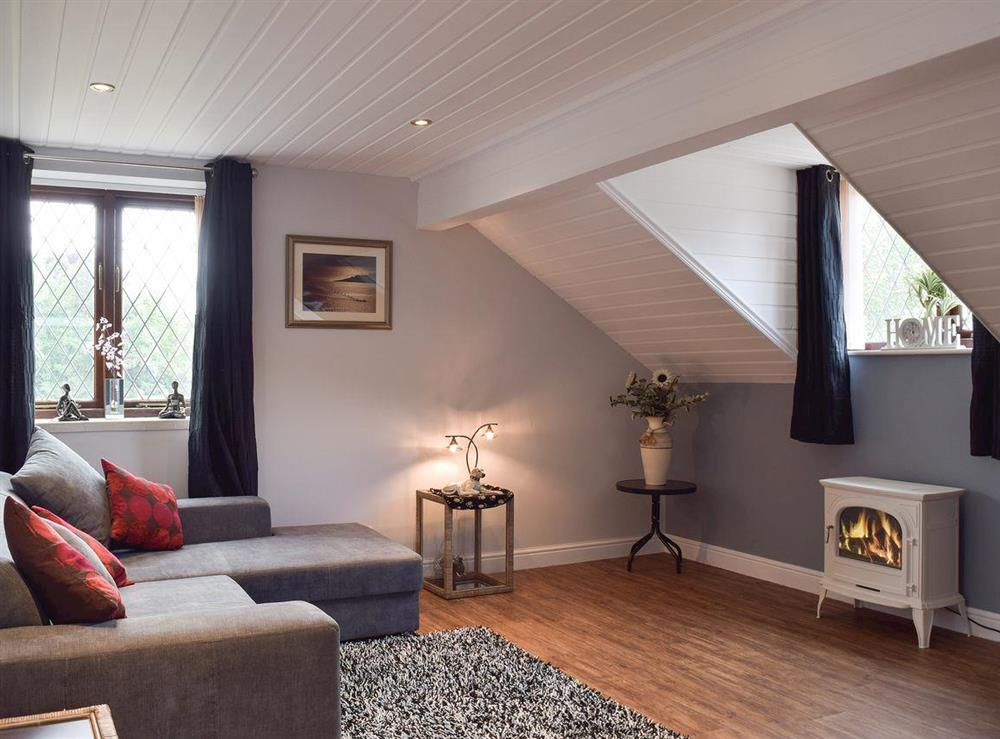 Cosy living room at Appleview in Kirby Cane, near Lowestoft, Norfolk