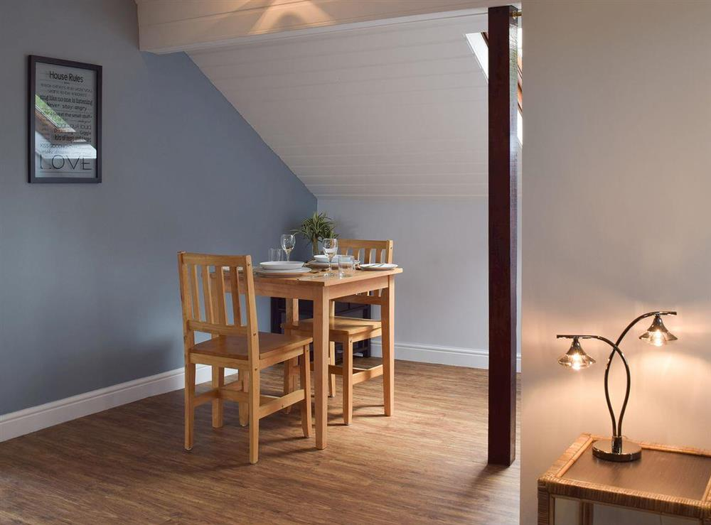 Dining area at Appleview in Kirby Cane, near Lowestoft, Norfolk