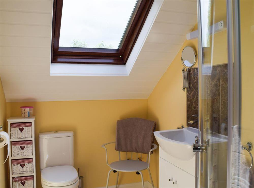 Shower room at Appleview in Kirby Cane, near Lowestoft, Norfolk