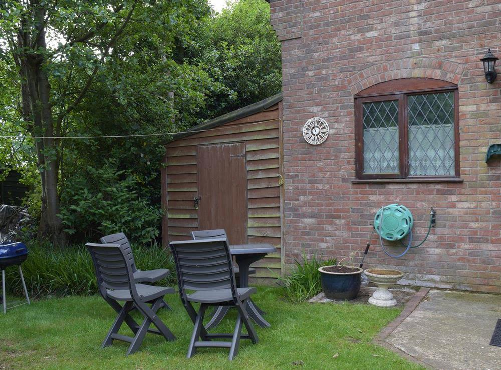Sitting out area at Appleview in Kirby Cane, near Lowestoft, Norfolk