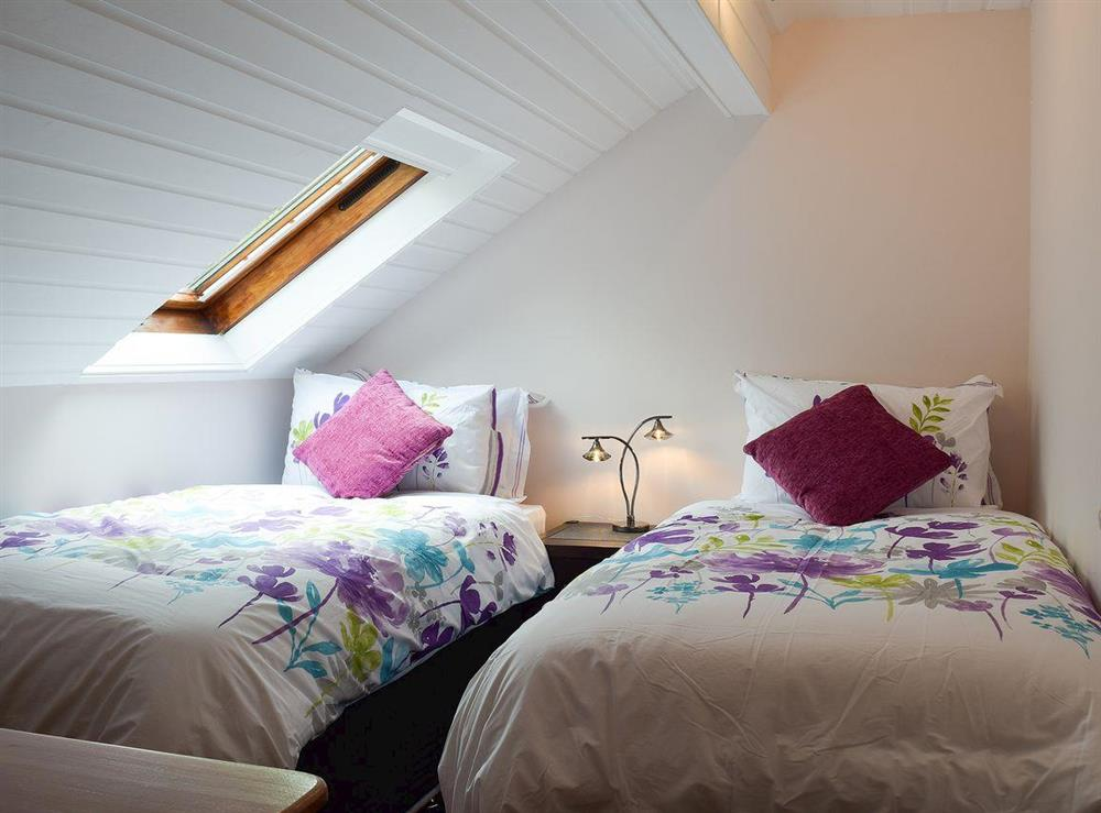 Twin bedroom at Appleview in Kirby Cane, near Lowestoft, Norfolk