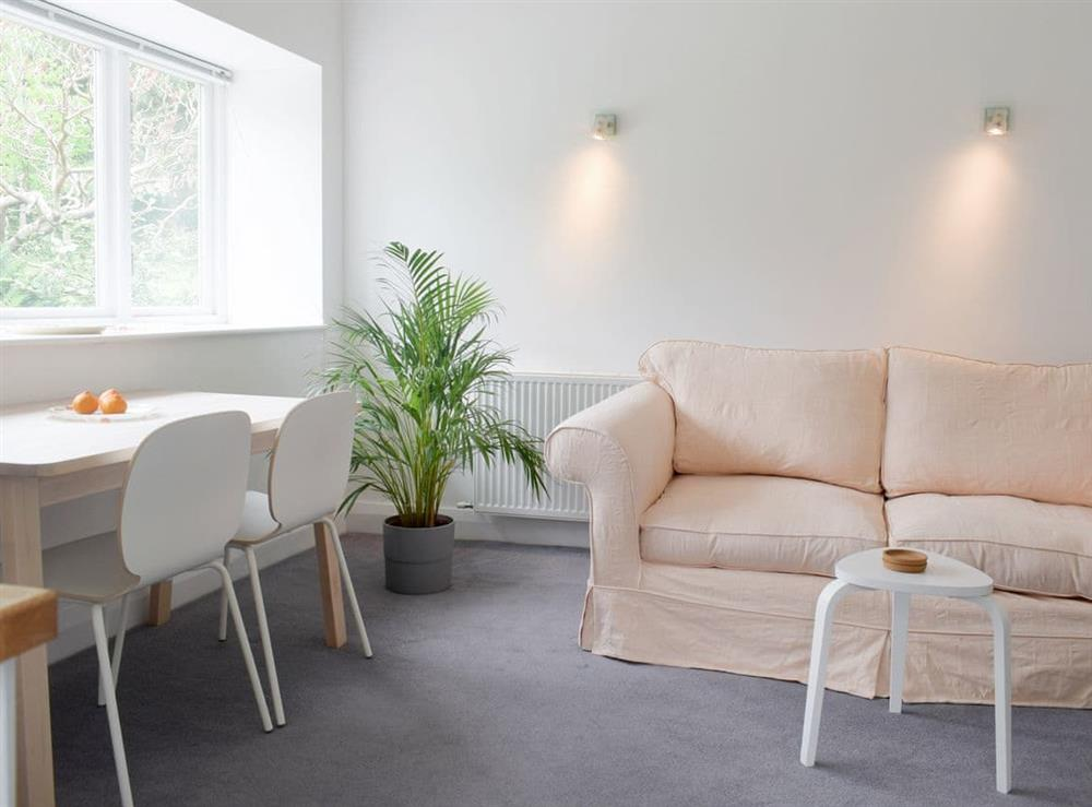 Open plan living space at Applewood Mill Apartment in Bartestree, Herefordshire