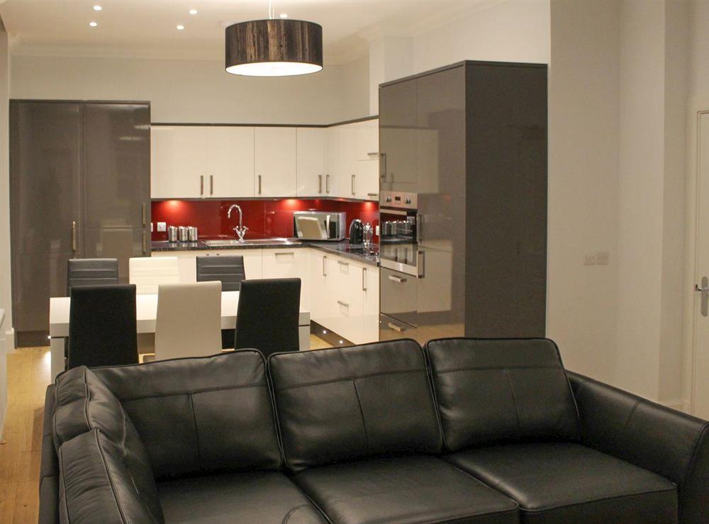 Convenient open-plan living space at Apartment 2,