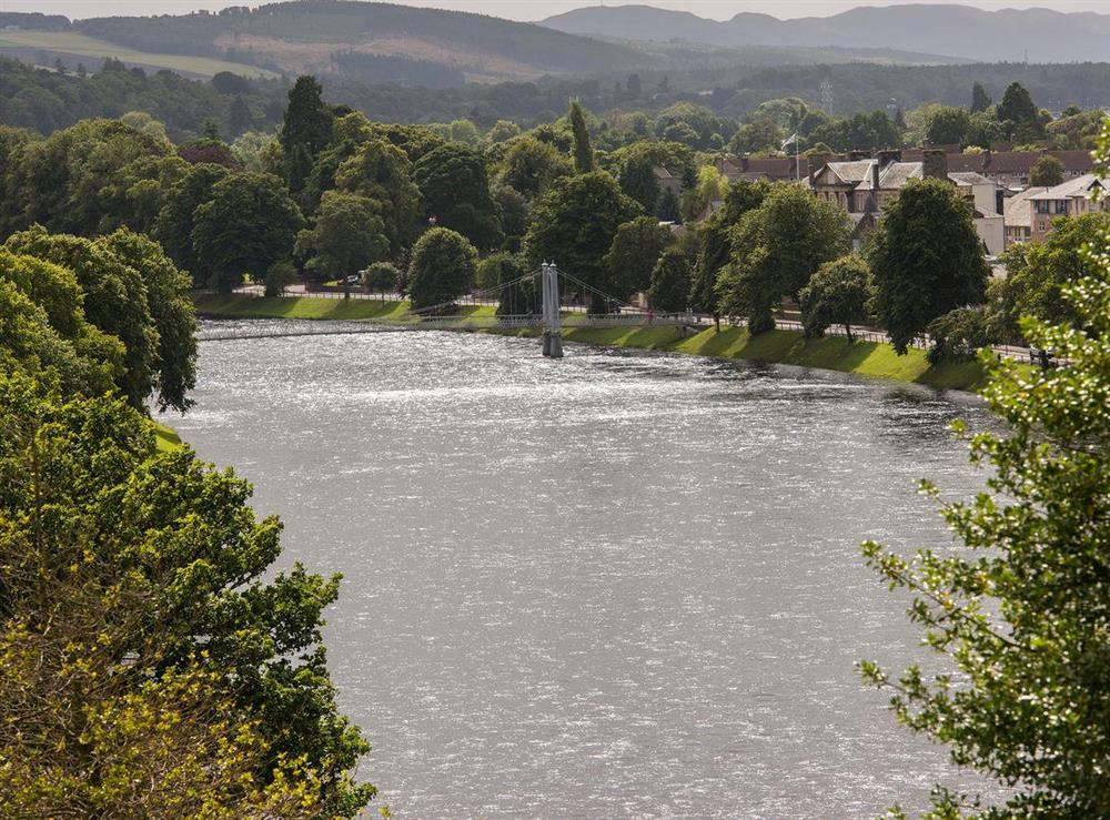 River Ness and open countryside beyond at Apartment 4,