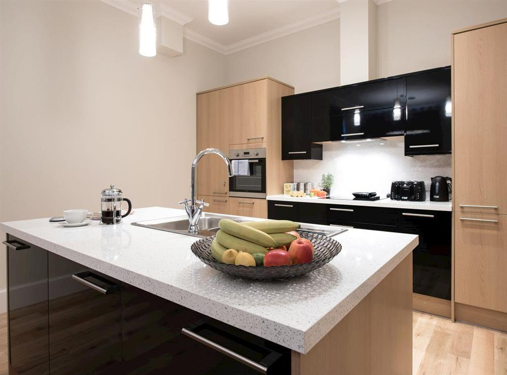 Fully-equipped kitchen with 'island' at Apartment 6,
