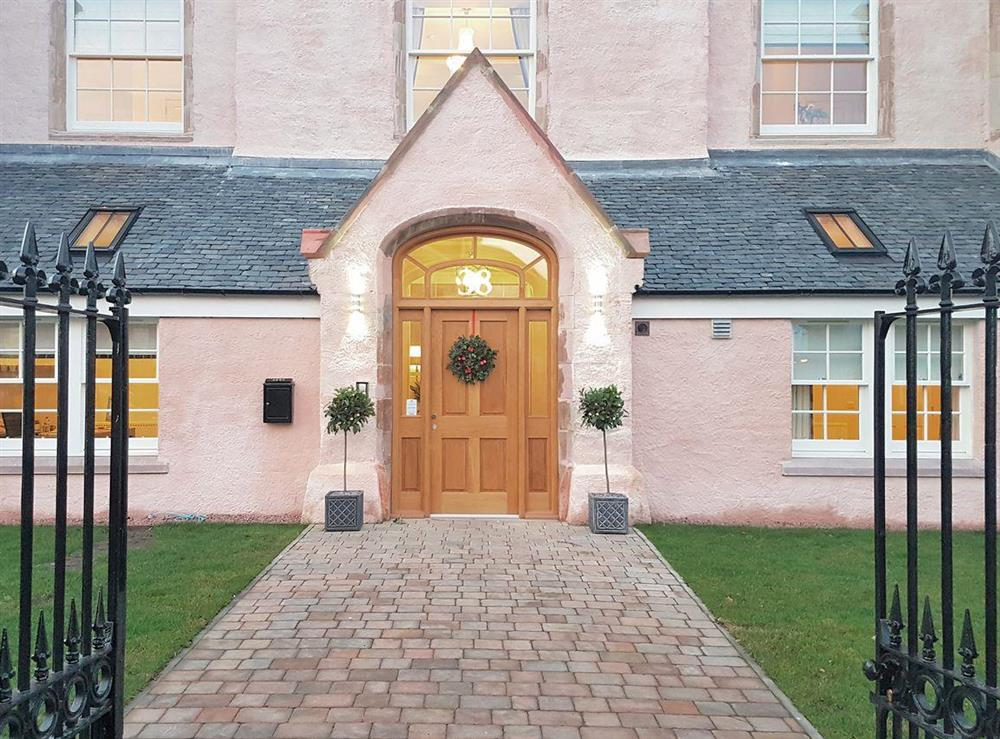 Gated main entrance at Apartment 6,