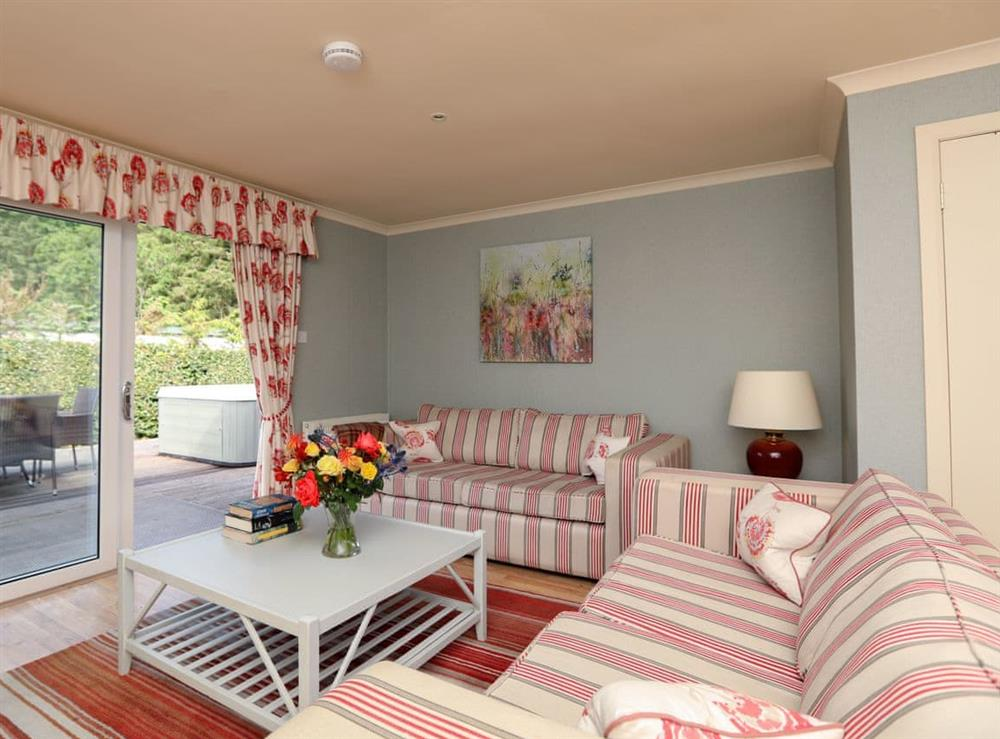 Living room at Ardean Cottage in Cringletie, near Peebles, Peebleshire