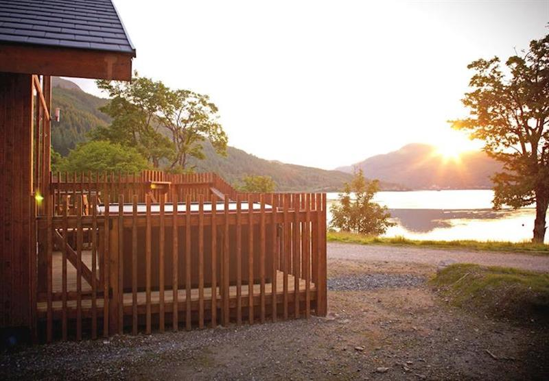 Loch Long view at Argyll Lodges in Dumbartonshire, Southern Highlands