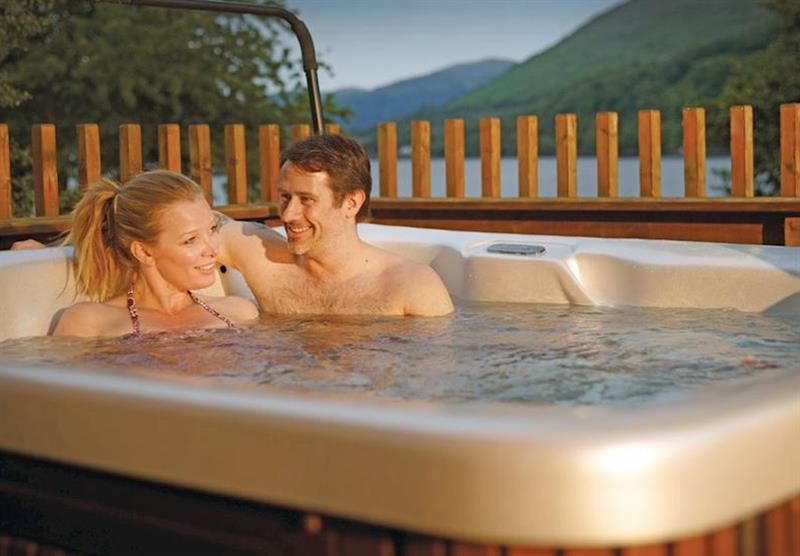 Typical hot tub at Argyll Lodges in Dumbartonshire, Southern Highlands