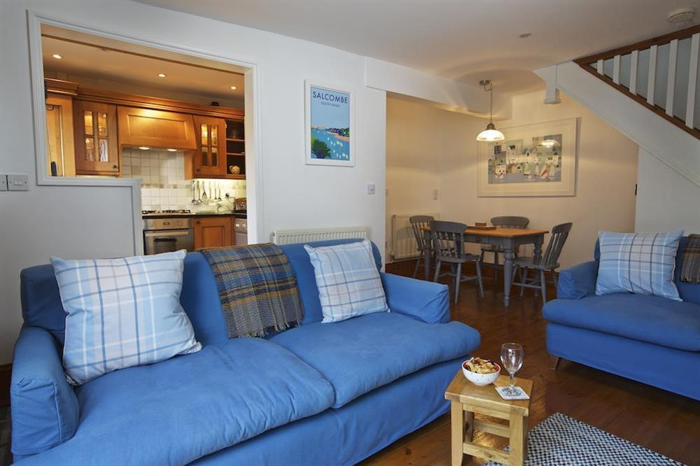 Cosy living/ dining area at Armada Cottage in , Dartmouth