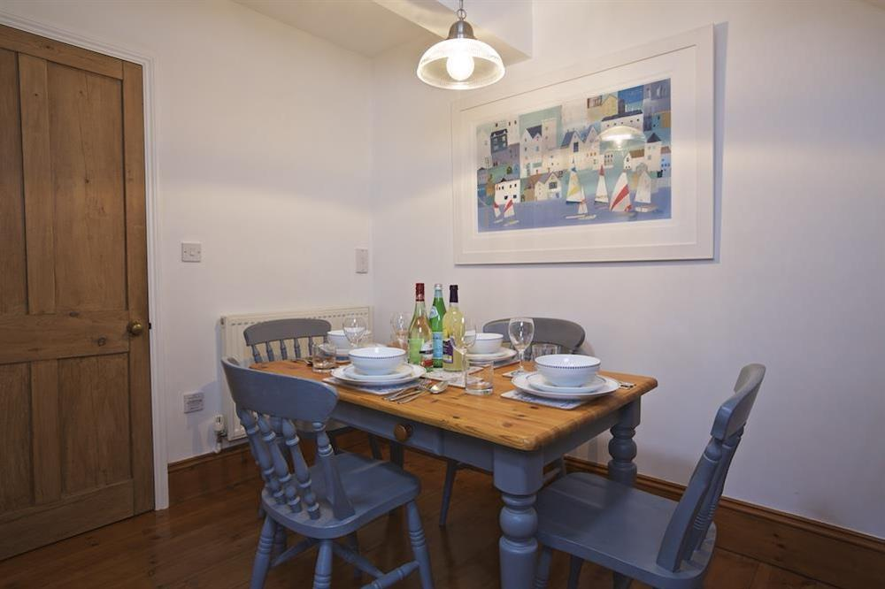 Dining table seating 4 at Armada Cottage in , Dartmouth