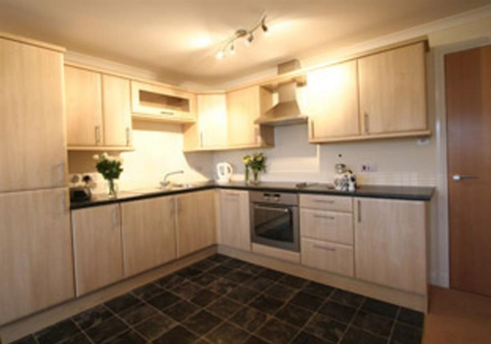 Arran View kitchen area at Arran View in Prestwick, Ayrshire