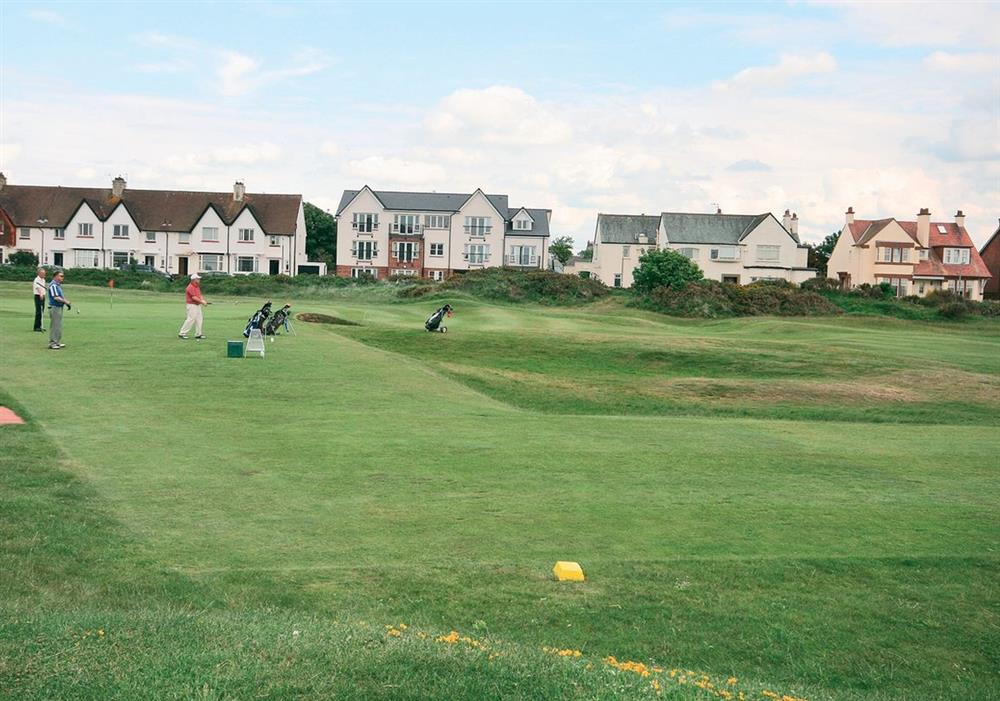 Golf course at Arran View in Prestwick, Ayrshire