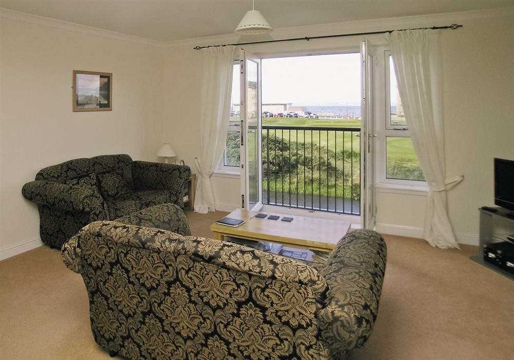 Living room at Arran View in Prestwick, Ayrshire