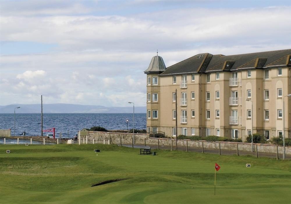 View from living room at Arran View in Prestwick, Ayrshire