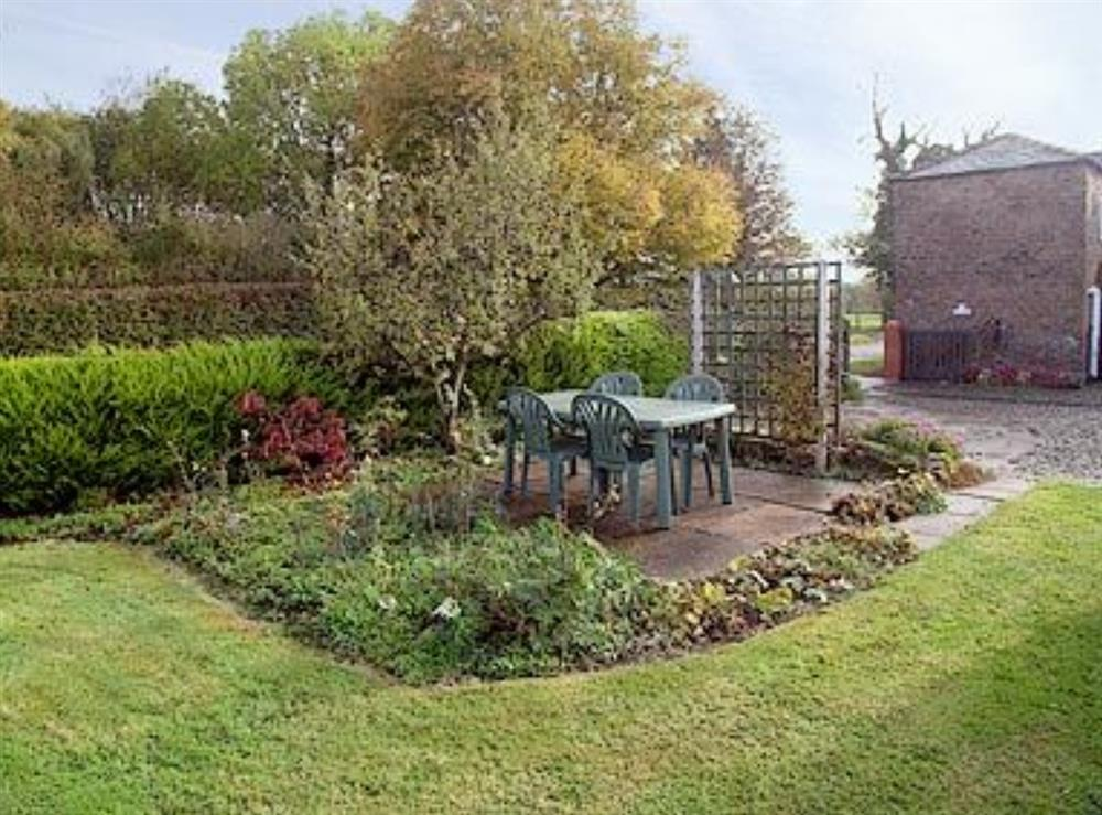 Garden at Ash Cottage in Oscroft, near Chester, Cheshire