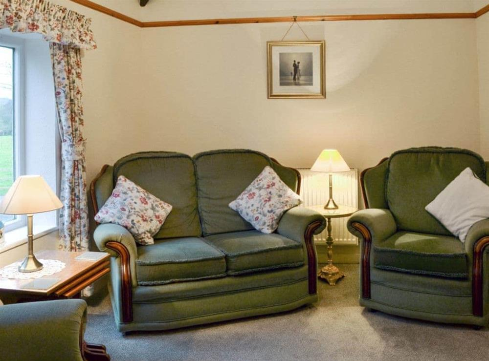 Living room at Ash Cottage in Oscroft, near Chester, Cheshire