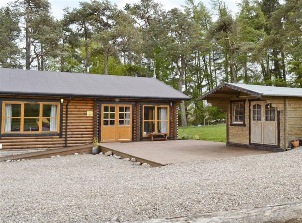 Exterior at Ashknowe Log Cabin in Perth, Perthshire