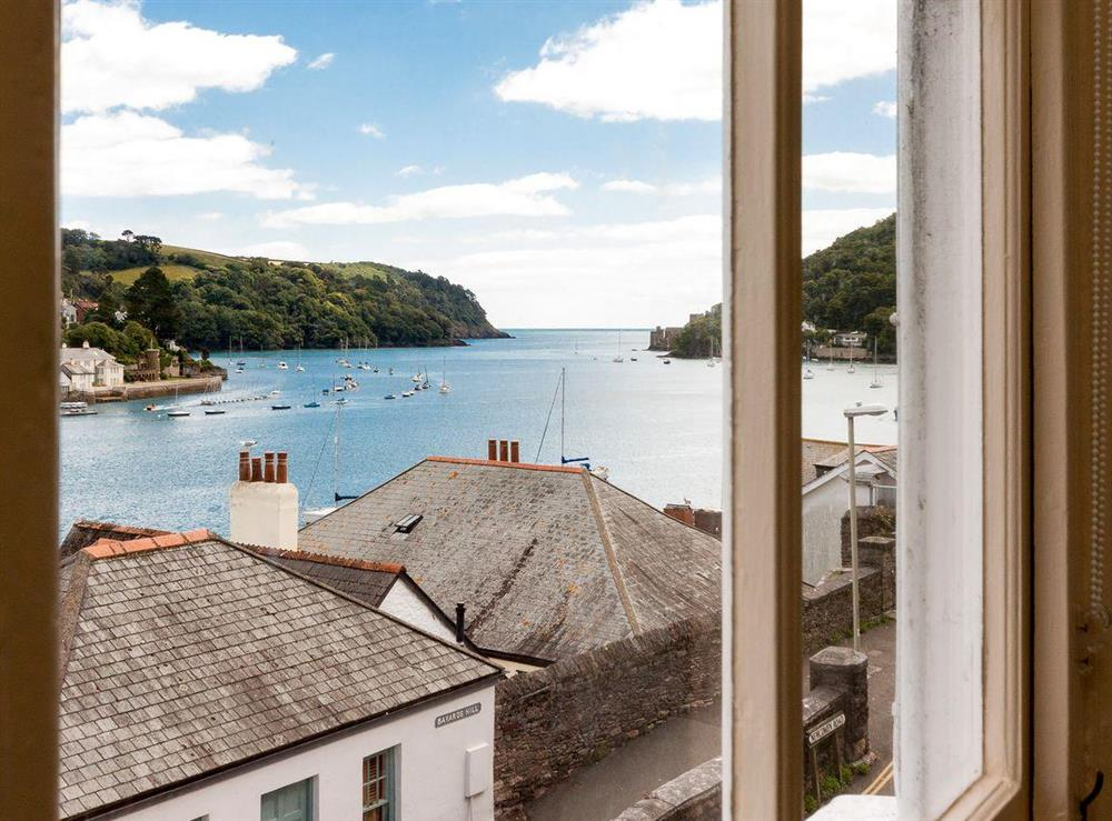 Excellent river views from the double bedroom at At Last in Dartmouth, Devon