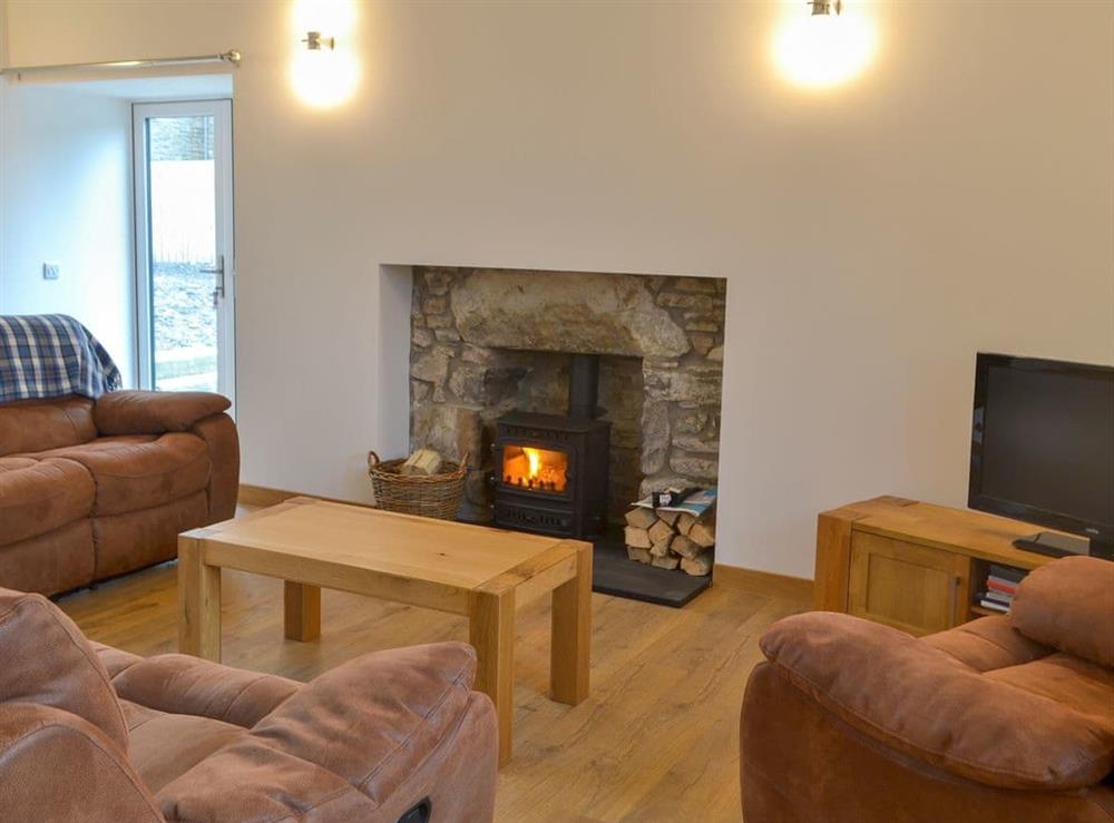 Cosy living area at Auld Kirk Hall in Woodhead, near Turriff, Aberdeenshire