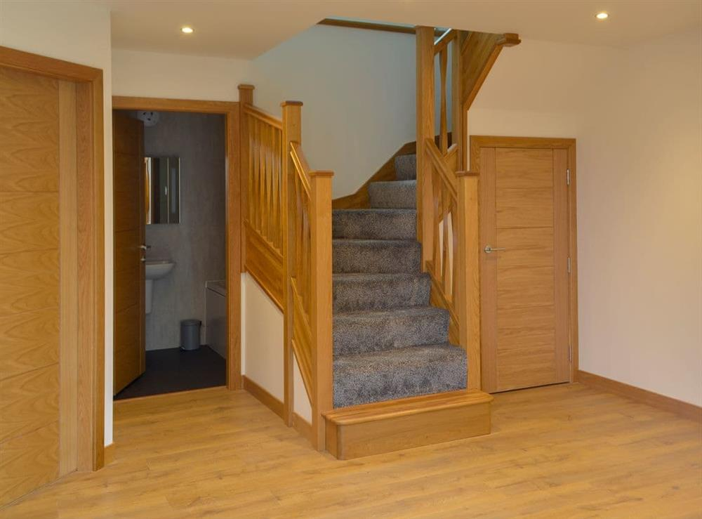 Hand crafted dog leg staircase