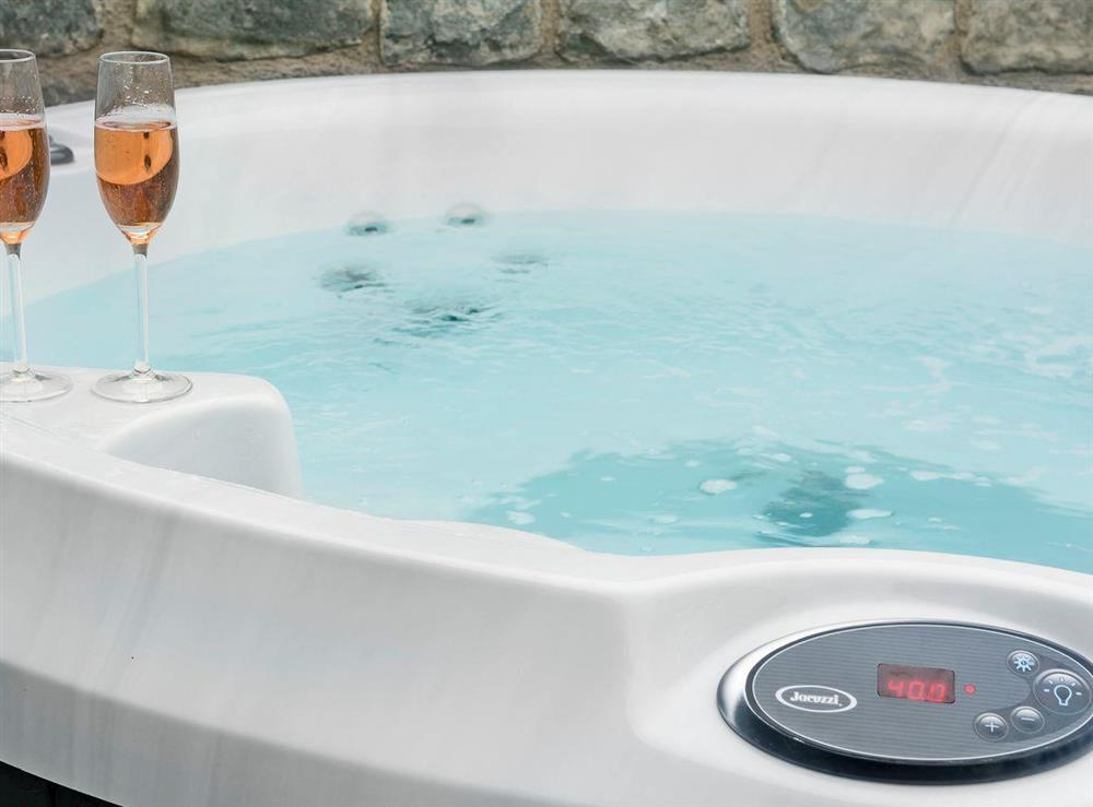 Relaxing, private hot tub at The Dovecote,