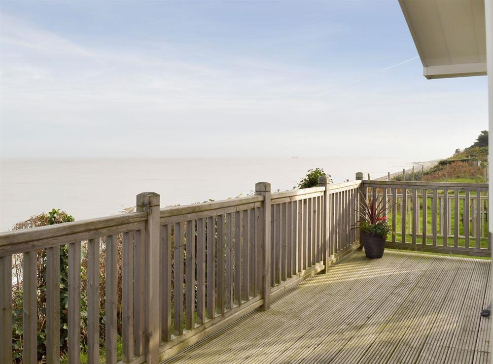 Decked area with outstanding sea-views at Azure View in Corton, near Lowestoft, Suffolk