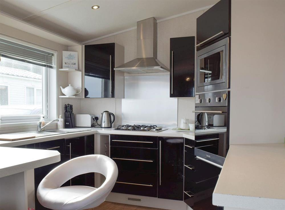 Well-equipped fitted kitchen at Azure View in Corton, near Lowestoft, Suffolk