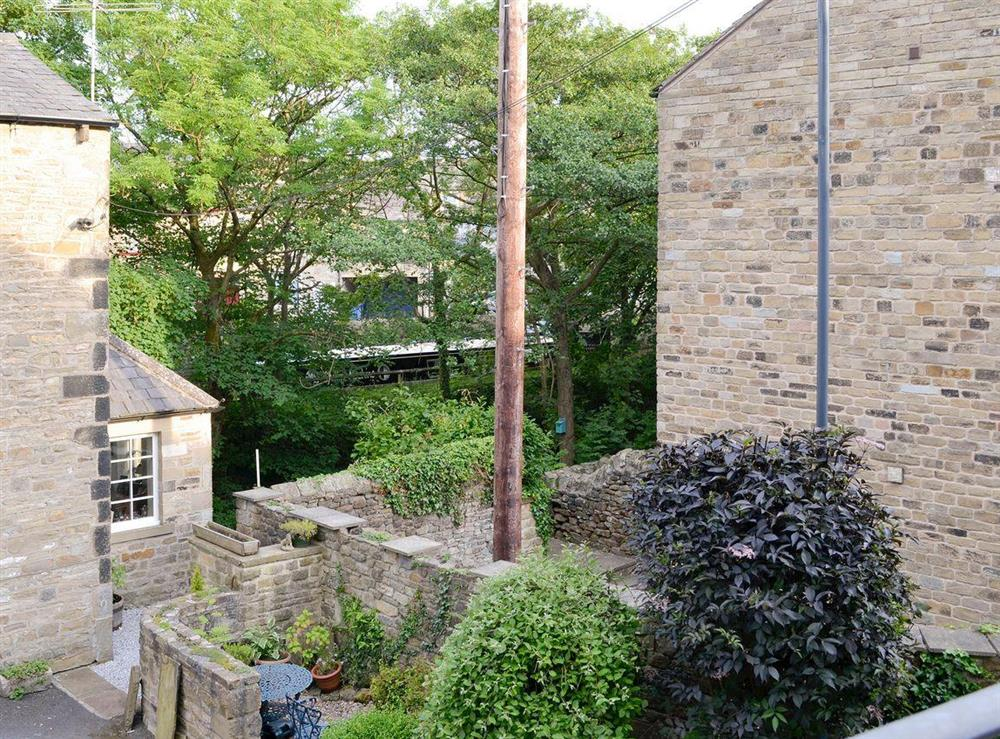 Lovely view over to the canal from the balcony at Back o the Beck in Skipton, North Yorkshire