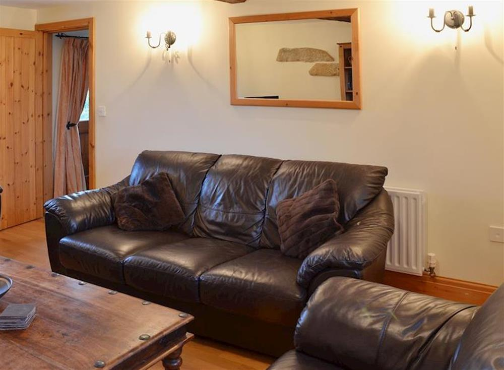 The leather suite adds to the comfort and relaxing