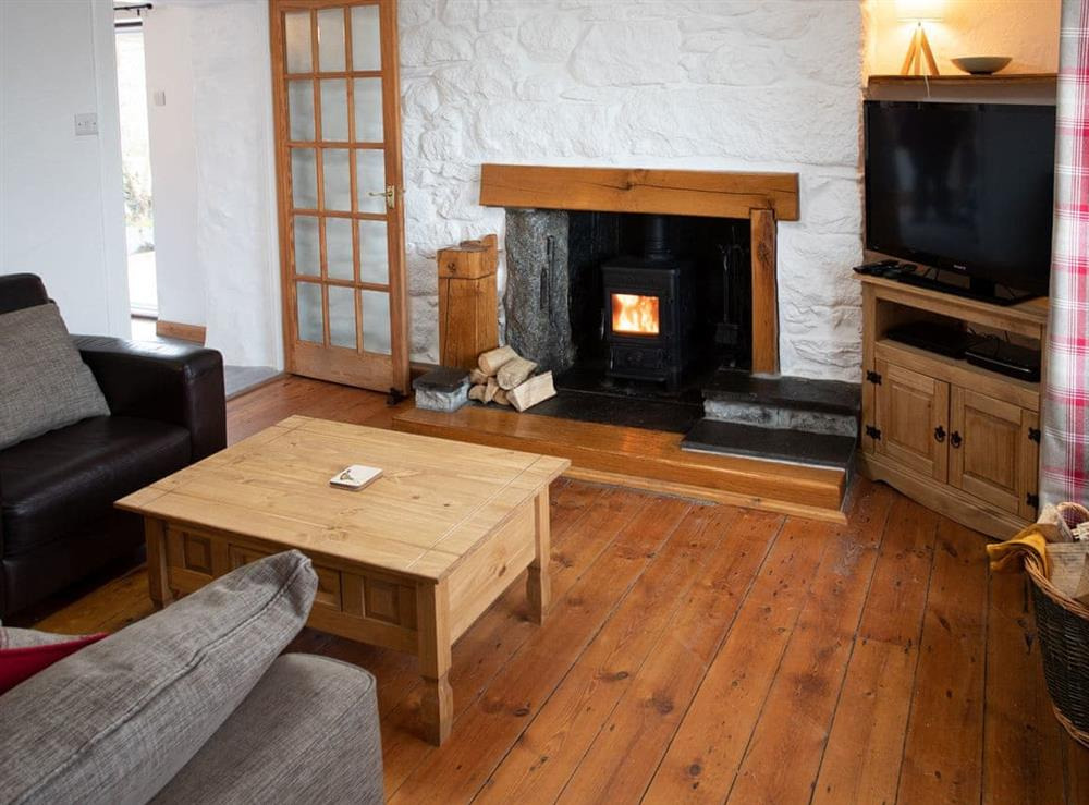 Attractive living area at Balloan Farm Cottage in Lairg, Highlands, Sutherland