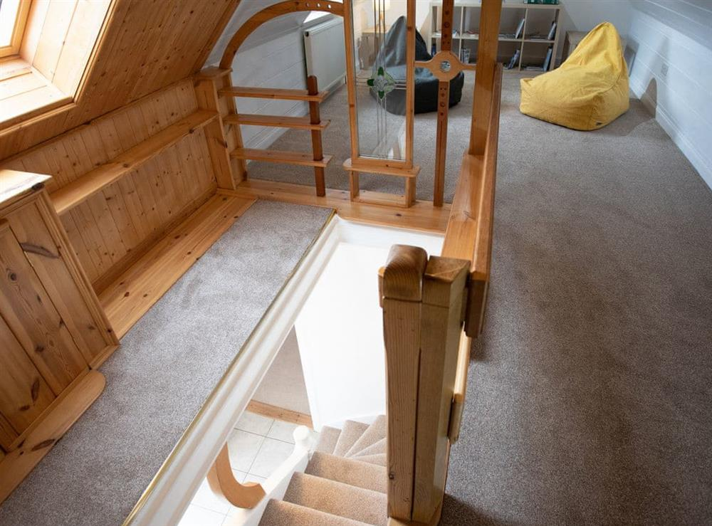 First floor landing area at Balloan Farm Cottage in Lairg, Highlands, Sutherland
