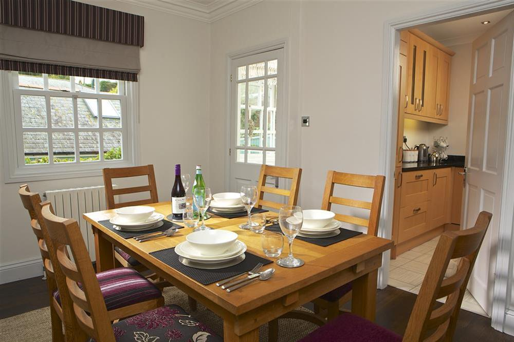 Dining room with seating for six at Balmoral House in , Dartmouth
