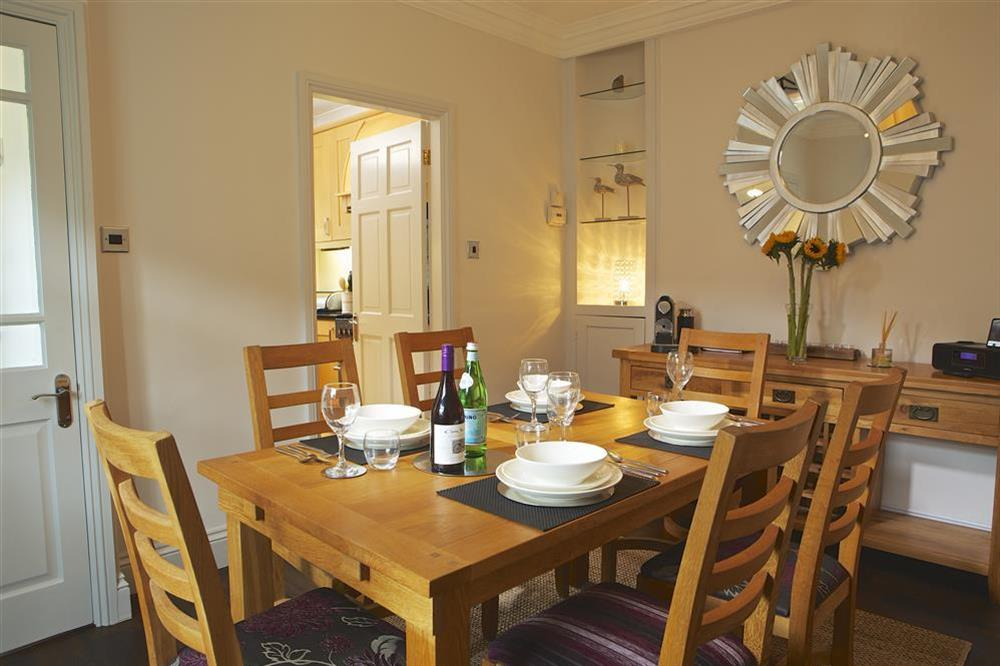 Dining room with seating for up to six at Balmoral House in , Dartmouth