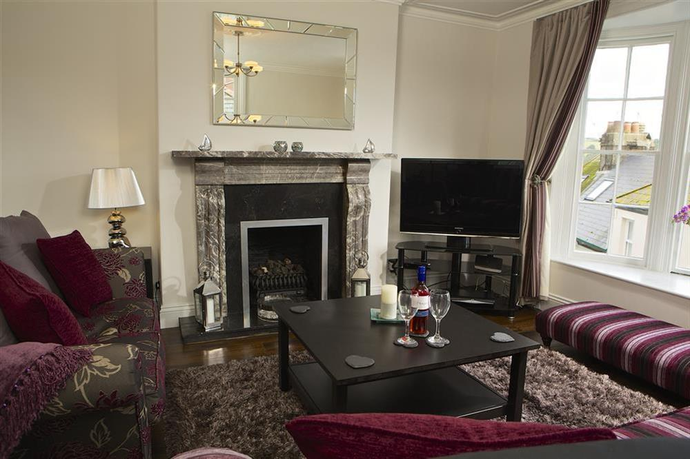 Lounge with bay window at Balmoral House in , Dartmouth