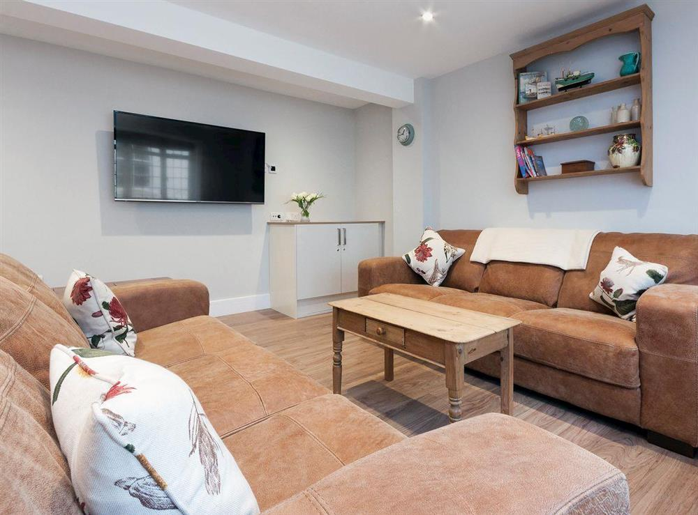 Tastefully furnished living room area at Bank Apartment 1 in Dartmouth, Devon