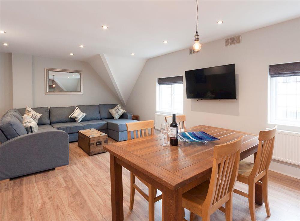 Delightful open plan living area at Bank Apartment 2 in Dartmouth, Devon