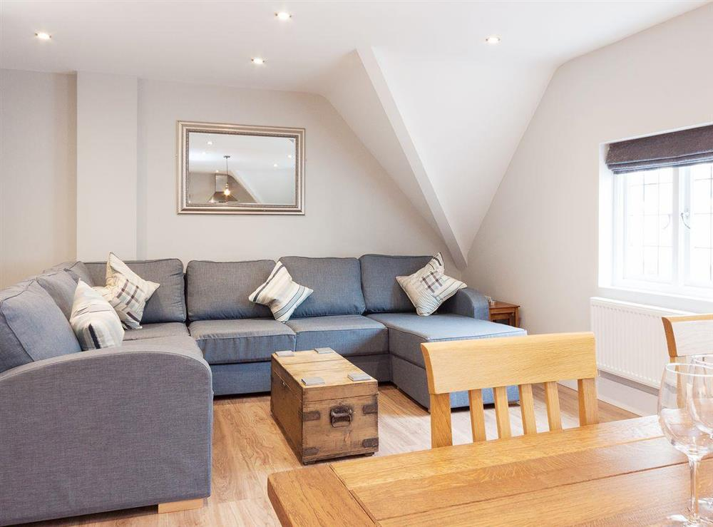 Lovely and comfortable open plan living area at Bank Apartment 2 in Dartmouth, Devon