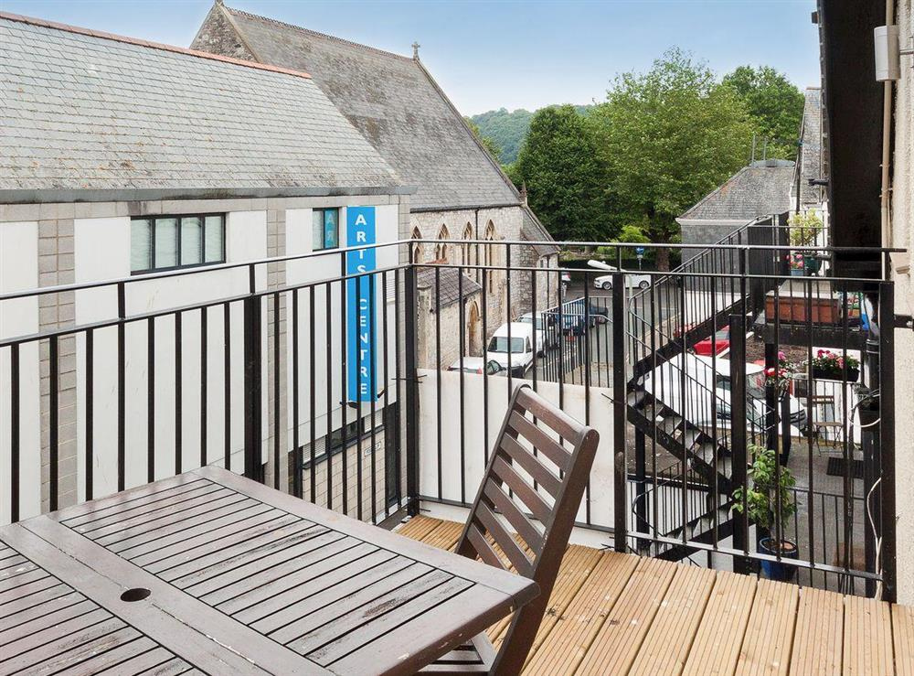 Lovely sunny balcony at Bank Apartment 2 in Dartmouth, Devon