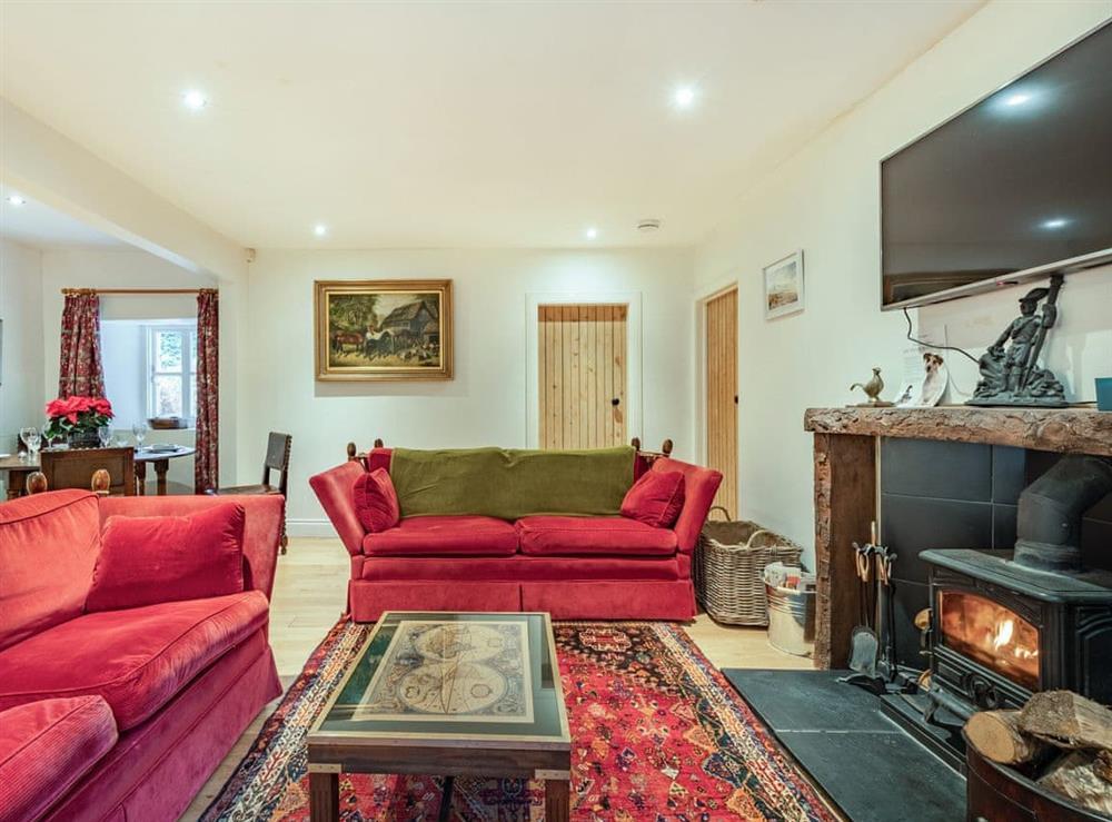 Living room/dining room at Barjols Cottge in Lamington, near Biggar, Lanarkshire