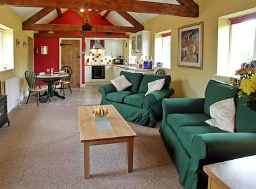 Open plan living/dining room/kitchen at Barleycorn in Holnest, near Sherborne, Dorset