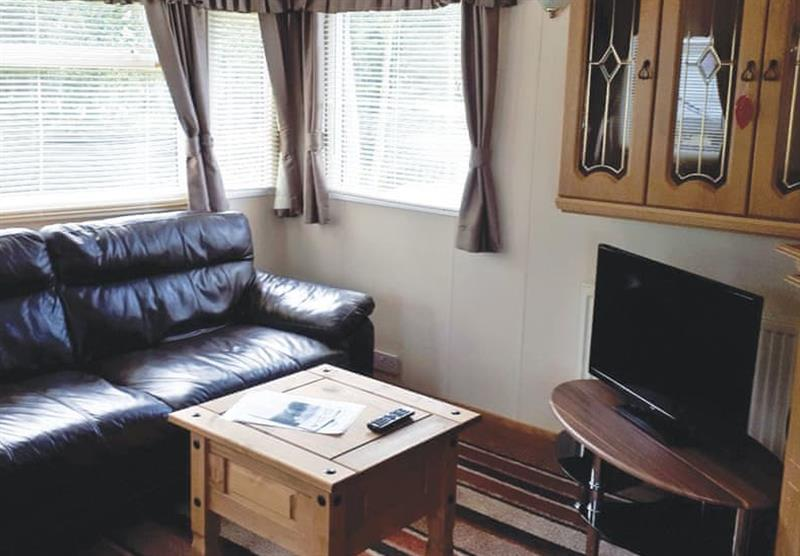 The living room in the Cosalt Caravan at Barlings Country Park in Langworth, Lincolnshire