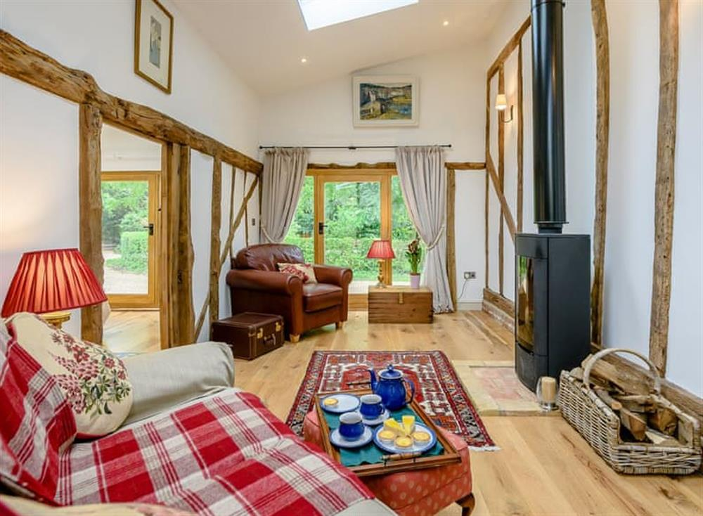 Thoughtfully converted living area at Barn End Cottage in Carlton, near Saxmundham, Suffolk