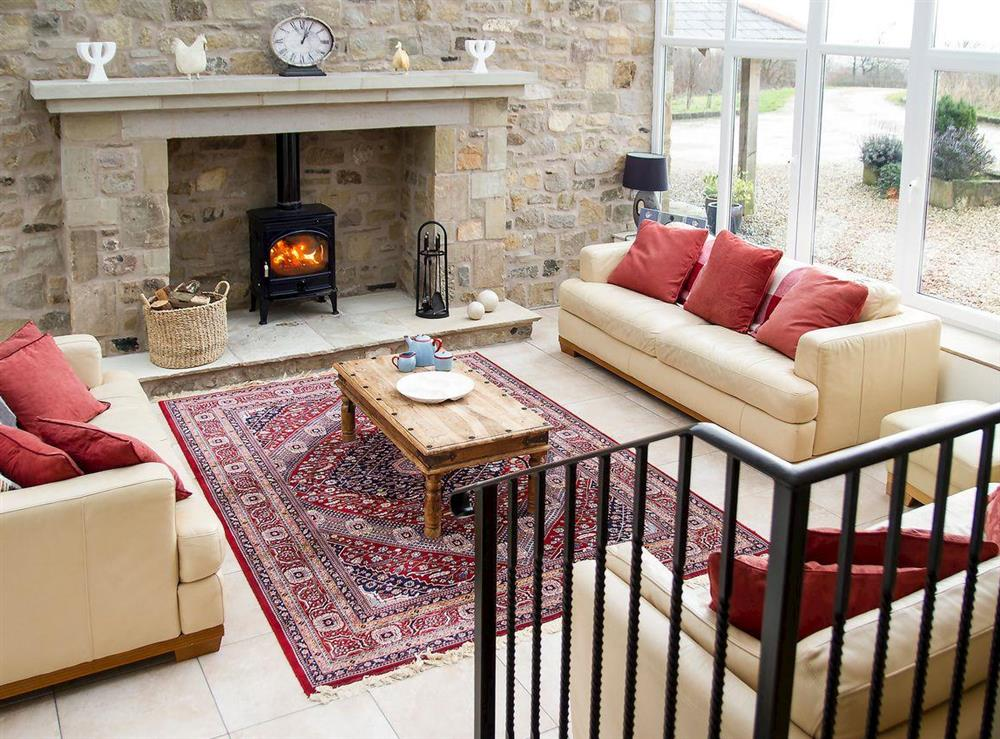 Light and airy lounge at Woodpecker Cottage,