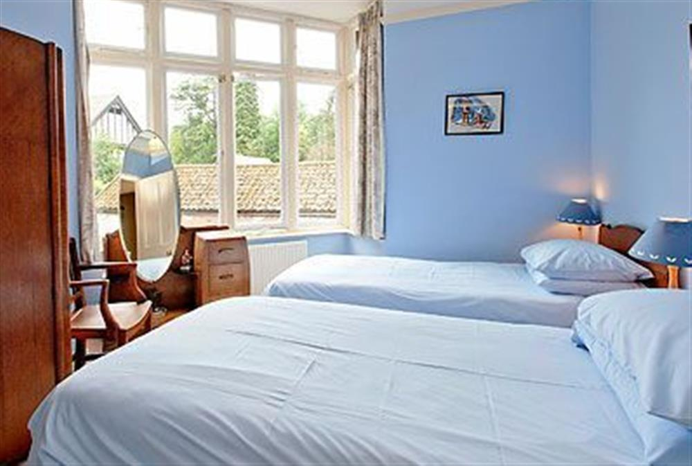 Twin bedroom at Barton House in Wroxham, Norfolk., Great Britain